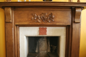 Celtic Blessing fixed to a Cheltenham fireplace (UK)