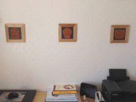 A work from home customer finds inspiration from 3 framed tiles in Newquay (UK)