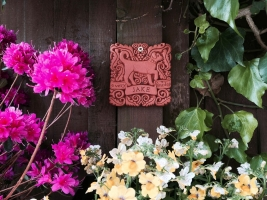 A personalised Fine Dog tile to remember a greatly missed Border Collie in Earby (UK)
