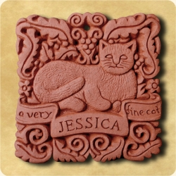 Personalised example of A personalised gift for a very fine cat