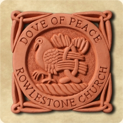 Personalised example of A personalised dove tile for a peaceful message