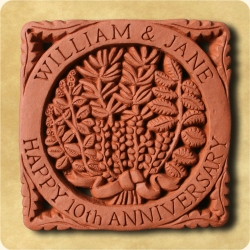 Personalised example of A personalised herbs tile for any message