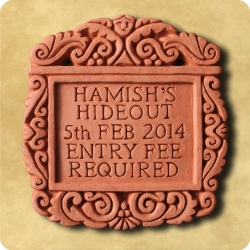 Personalised example of A personalised Tudor tile for any message