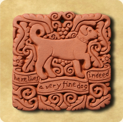 Fine Dog wall plaque