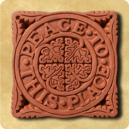 Somerset Blessing terracotta wall plaque
