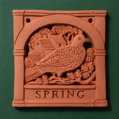 Spring - Four Seasons wall plaque