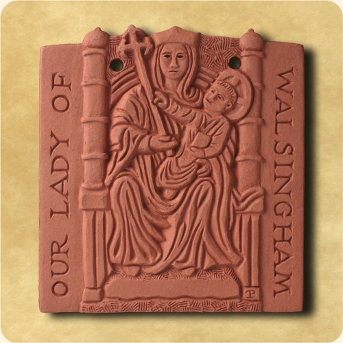 Lady of Walsingham wall hanging