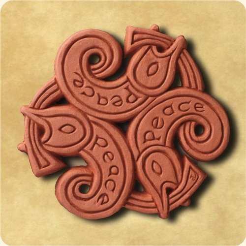 Three Fish - a Celtic inspired wall plaque
