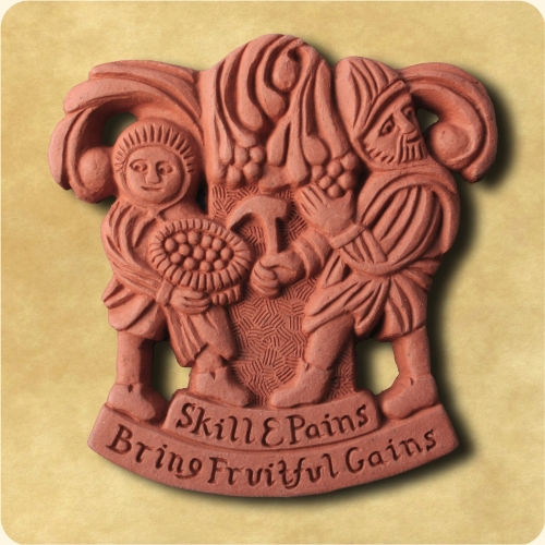 Fruitful Gains decorative wall plaque