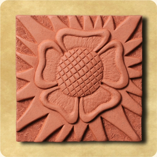 Rose & Sunburst wall plaque William Morris