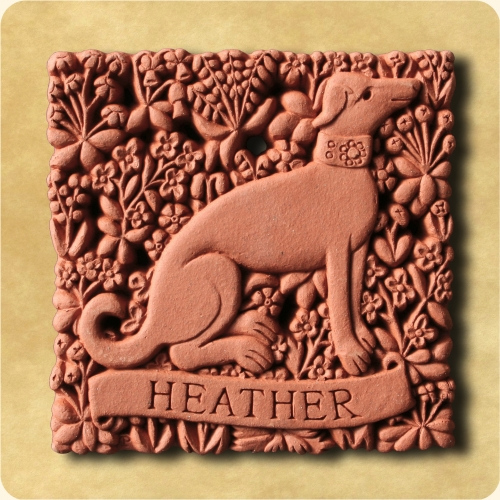 Add your name to this hunting dog tile