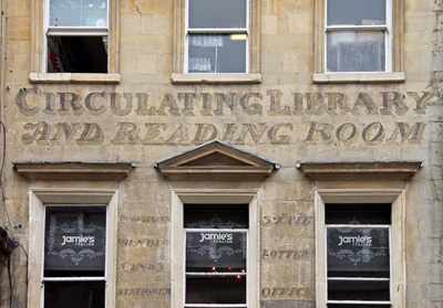 Circulating Library Ghost Sign